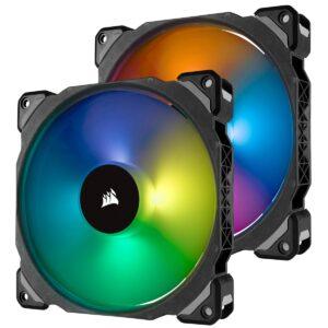 CORSAIR CO-9050078-WW ML140 PRO RGB 140MM MANYETIK LEVITASYON YUKSEK PERFORMANS PWM FAN LIGHTING NODE PRO KONTROLCU ILE BIRLIKTE 2 L
