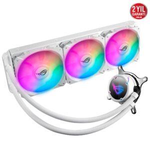 ASUS ROG STRIX LC 360 RGB WHITE EDITION AURA SYNC RGB 120MM ADRESLENEBİLİR FAN SIVI CPU SOĞUTUCUSU