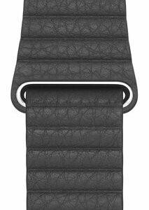 Apple 44mm Black Leather Kayış Medium